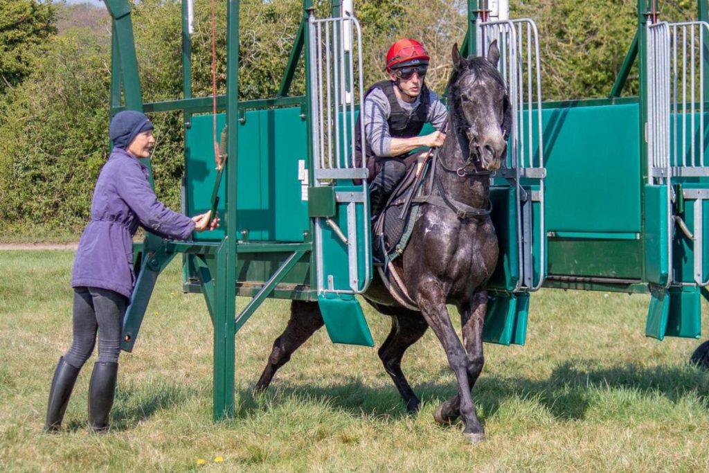 Jen Harris with Nath McCann who is riding Evermore Racing's Kayack